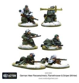 Bolt Action BA German Army: Heer Panzerschreck, Flamethrower, & Sniper Teams (Winter)