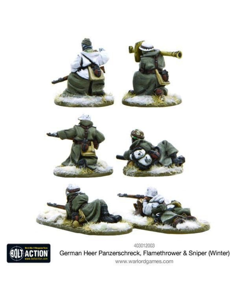 Bolt Action BA German Army: Heer Panzerschreck, Flamethrower, & Sniper Teams (Winter)
