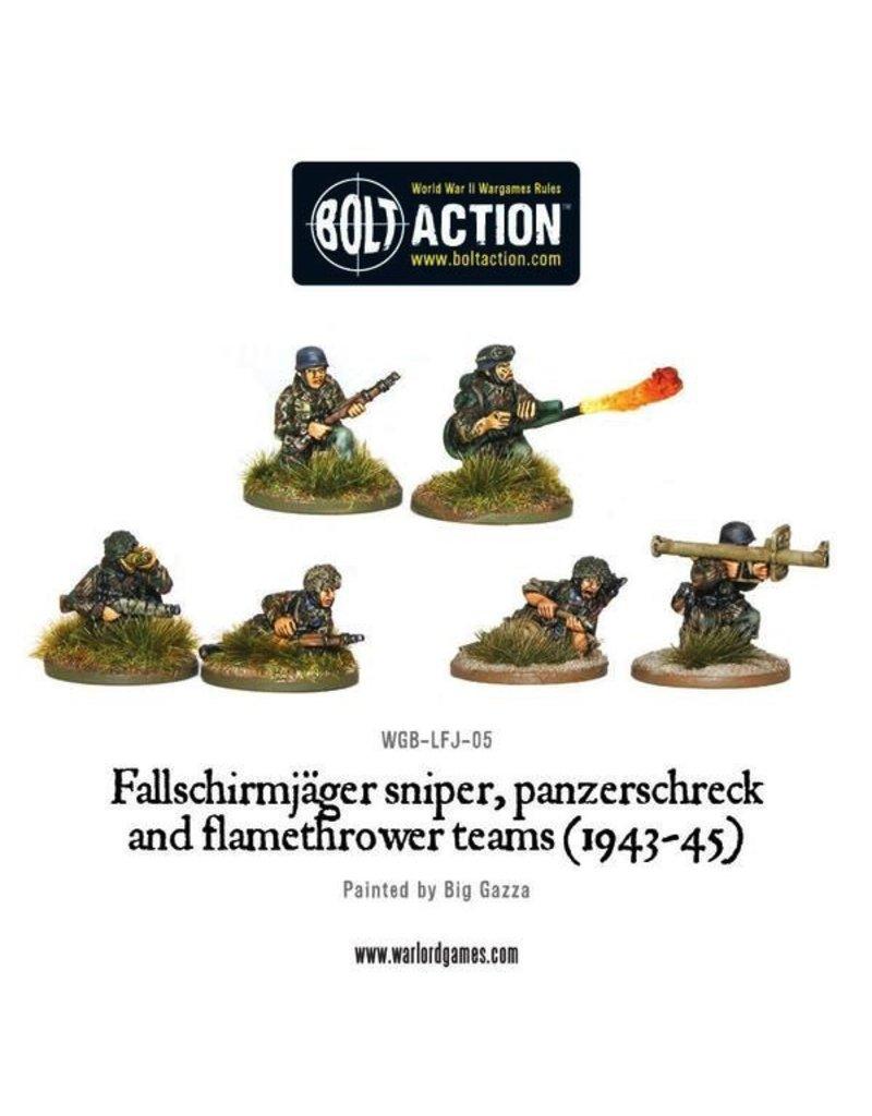 Bolt Action BA German Army: Fallschirmjager Flamethrower, Sniper, & Panzerschreck (6)