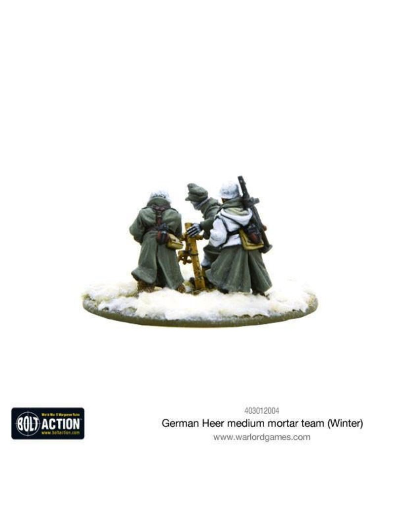 Bolt Action BA German Army: Heer Medium Mortar Team (Winter)