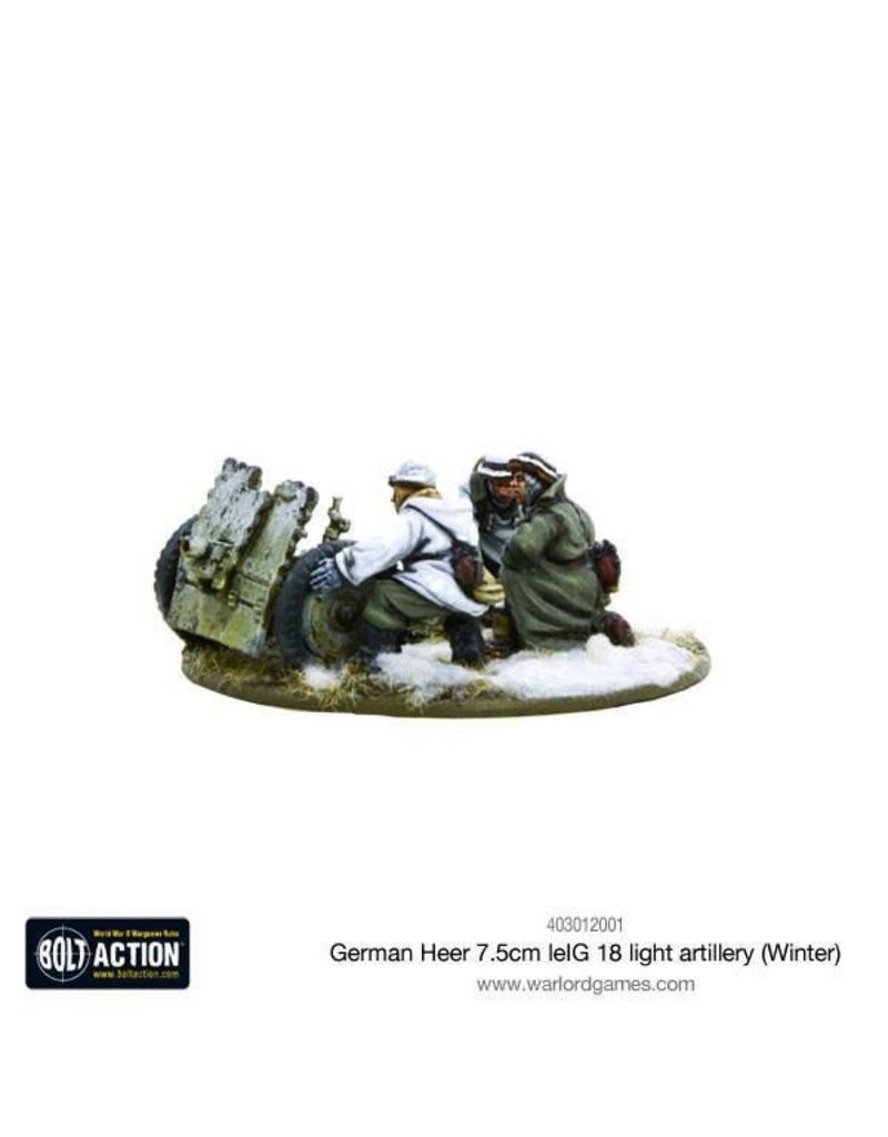 Bolt Action BA German Army: Heer 7.5cm leIG 18 Light Artillery (Winter)