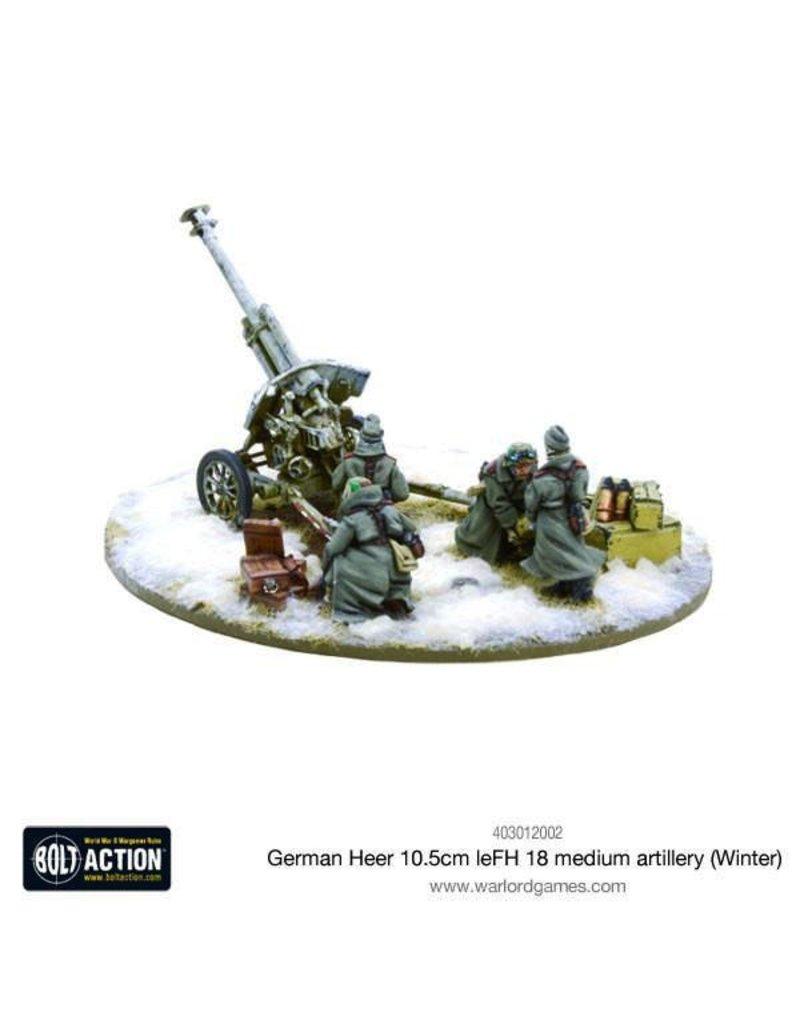 Bolt Action BA German Army: Heer 10.5cm leFH Medium Artillery (Winter)