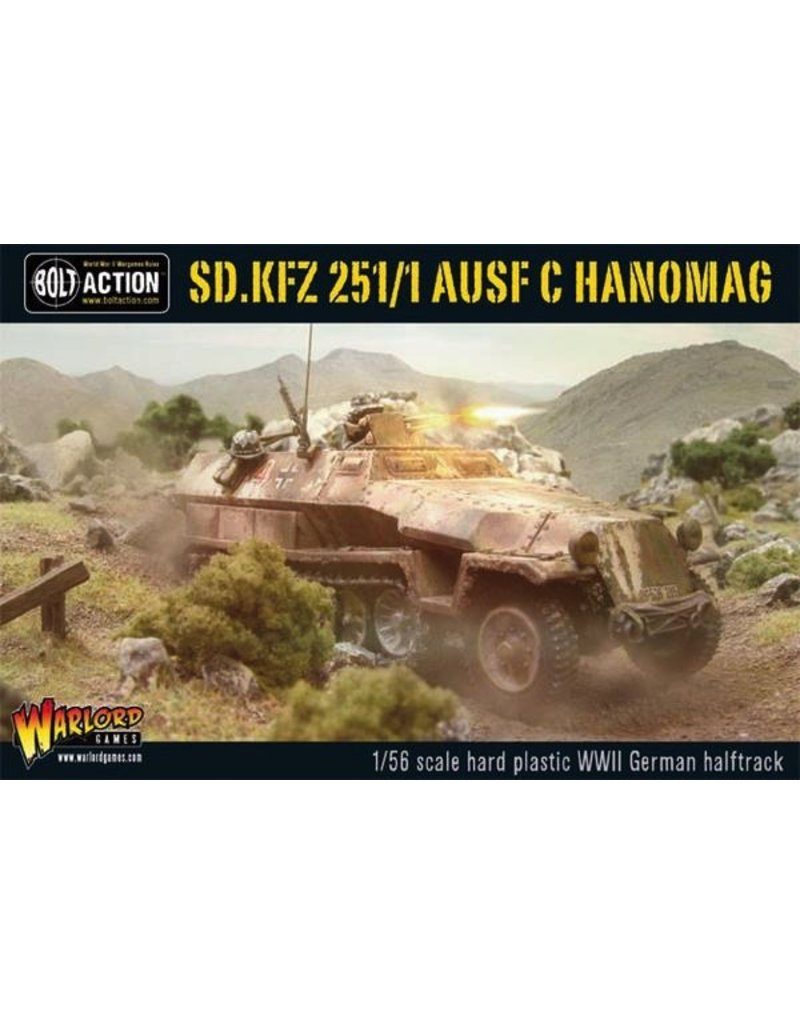 Bolt Action BA German Army: Sdkfz 251/1 AUSF C Hanomag Half Track