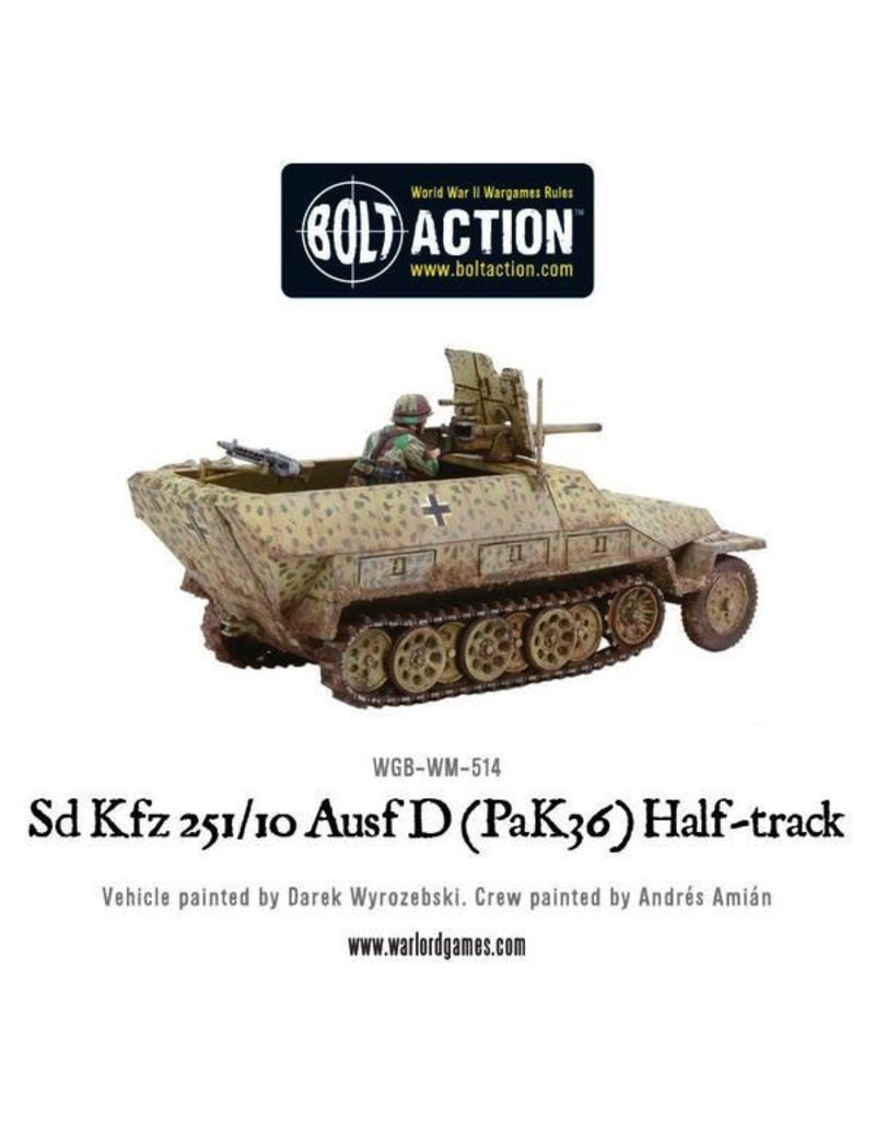 Bolt Action BA German Army: Sd.Kfz 251/10 ausf. D (Pak 36) Half-Track