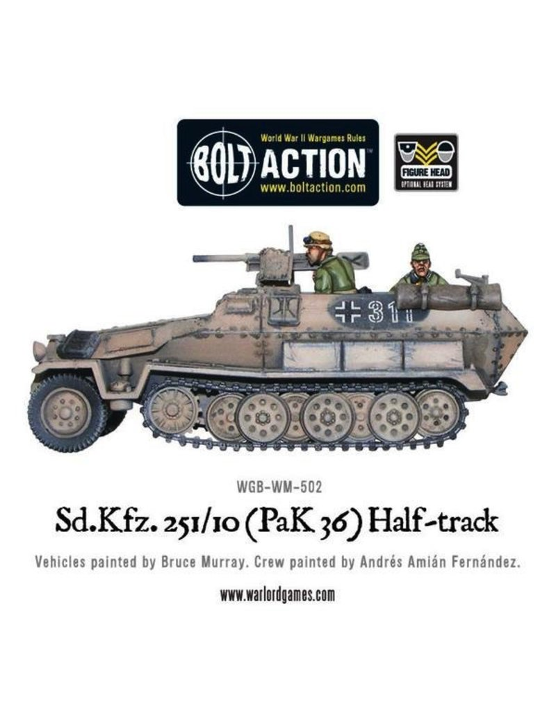Bolt Action BA German Army: Sd.Kfz 251/10 Pak 36 Half-Track