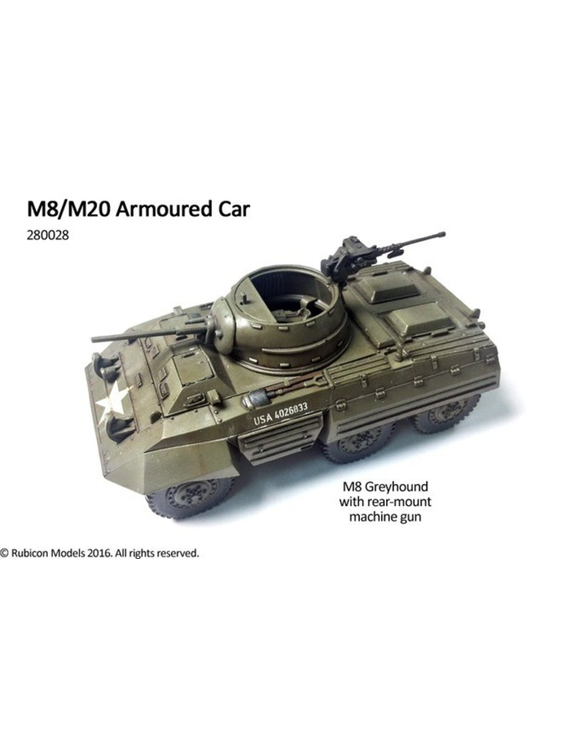 Rubicon Models 28mm Rubicon Models: (USA) M8/M20 Armoured Car