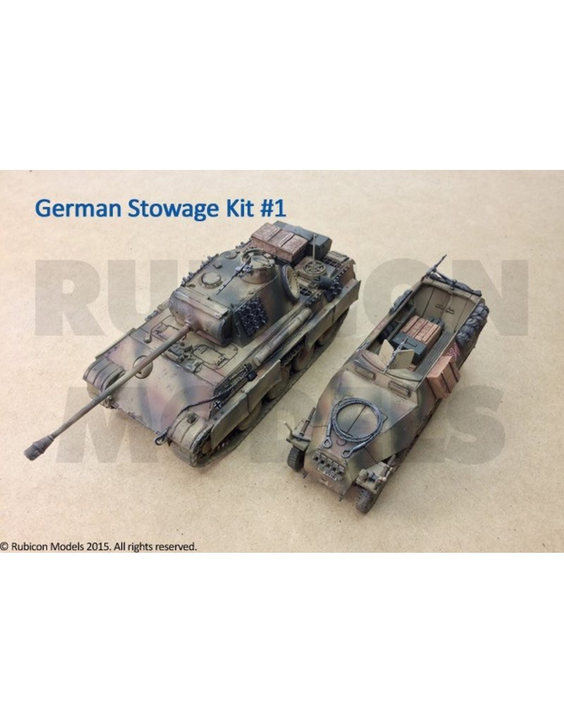 Rubicon Models DIRECT 28mm Rubicon Models: German Stowage Set 1