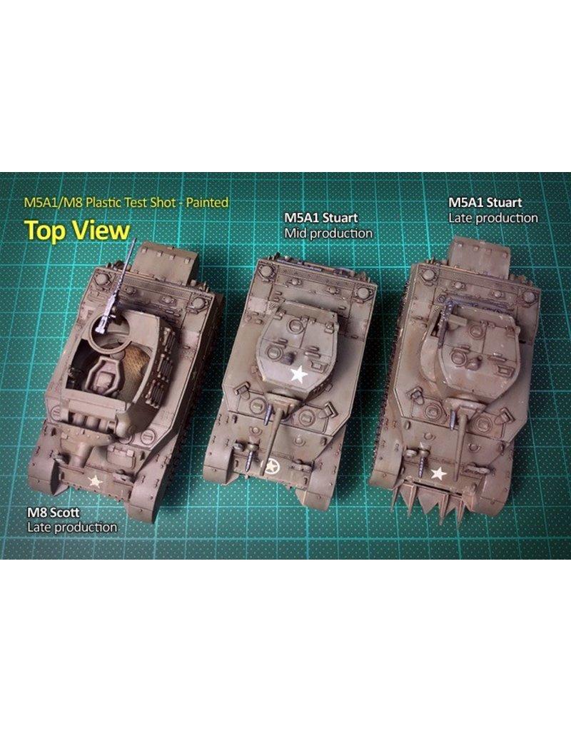 Rubicon Models 28mm Rubicon Models: M8 Scott / M5A1 Stuart