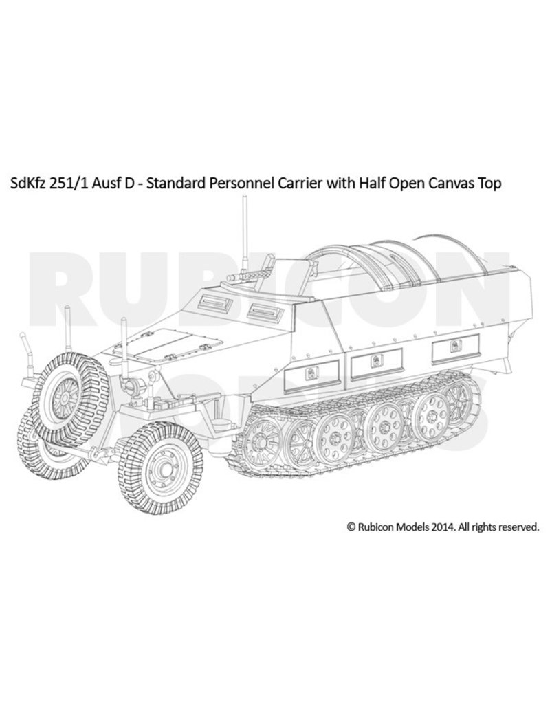 Rubicon Models 28mm Rubicon Models: SdKfz 251/1 Ausf D