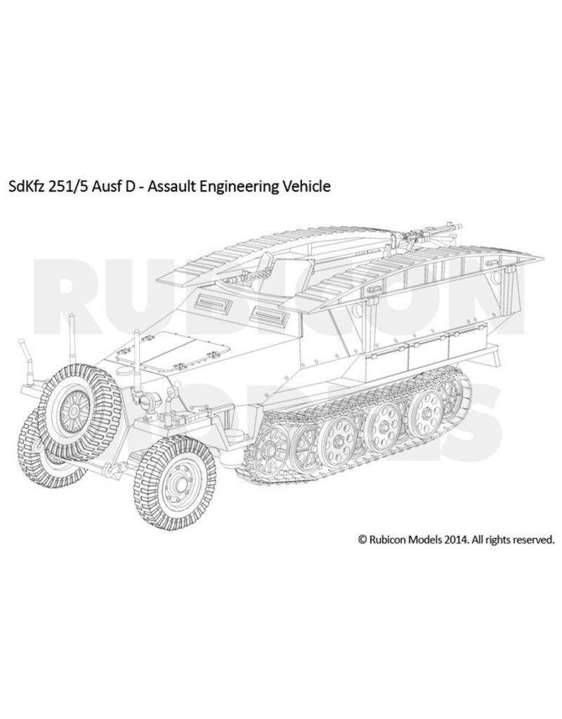 """Rubicon Models 28mm Rubicon Models: SdKfz 251D """"3-in-1"""" Combo Kit #1"""