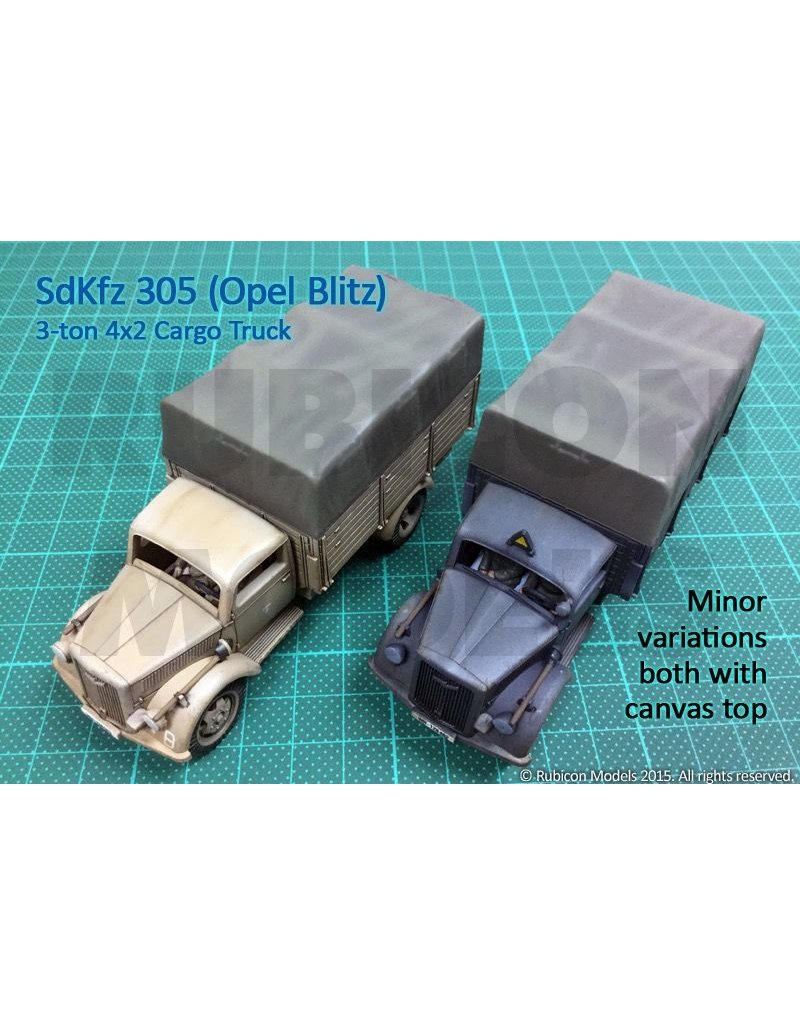 Rubicon Models 28mm Rubicon Models: SdKfz 305 3-ton 4x2 Cargo Truck