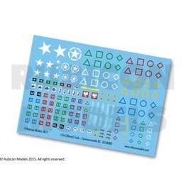Rubicon Models 28mm WWII: (Allied) Commonwealth Generic Decal Set 2