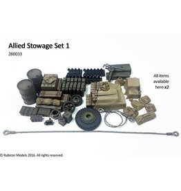 Rubicon Models 28mm WWII: (Allied) Stowage Set 1