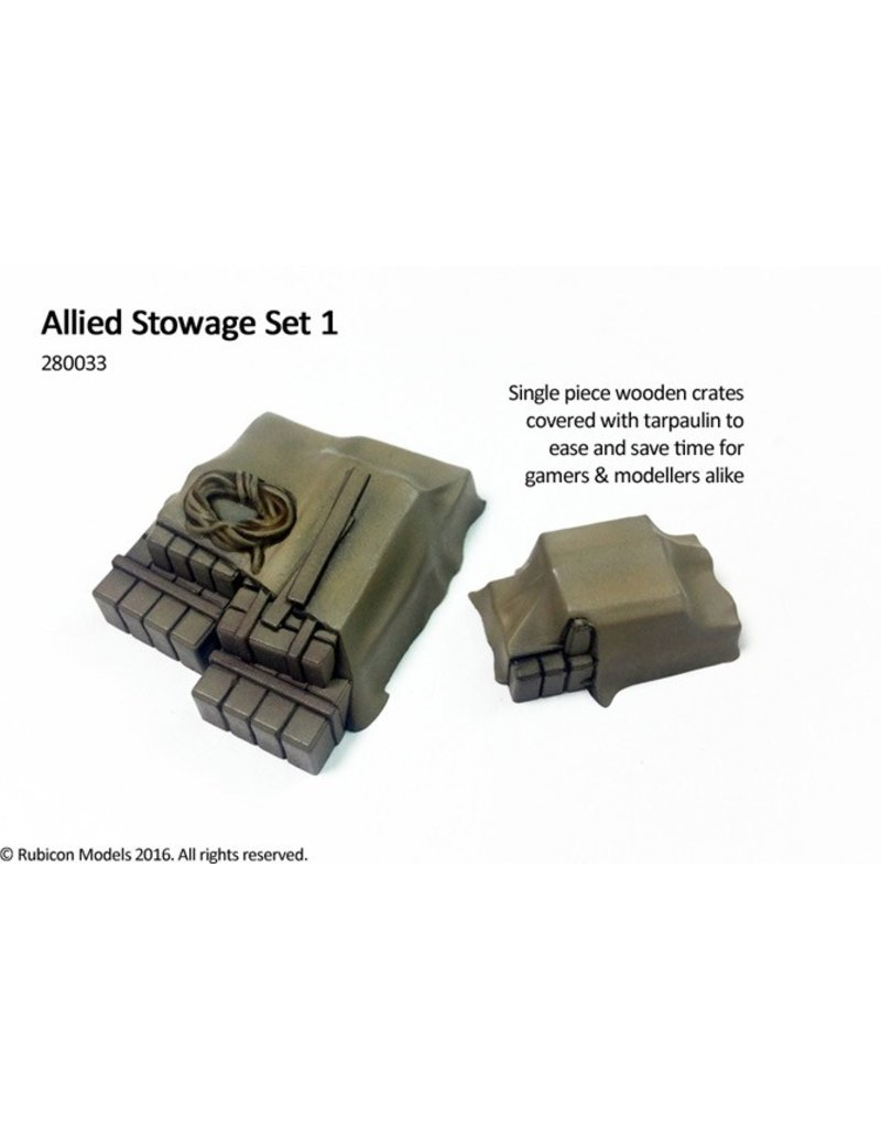 Rubicon Models DIRECT 28mm WWII: (Allied) Stowage Set 1