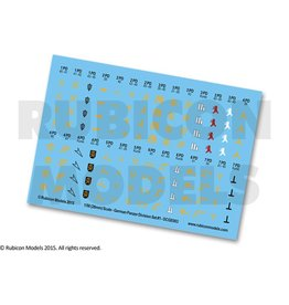 Rubicon Models 28mm WWII: (German) Panzer Division Decal Set 1