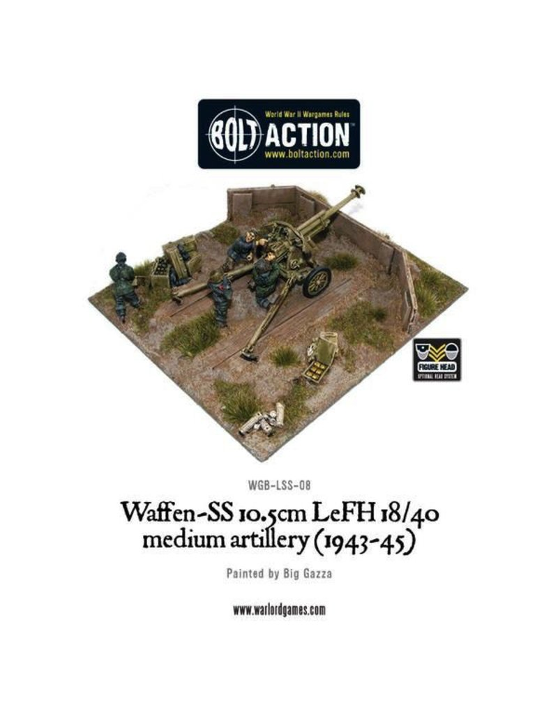 Bolt Action BA German Army: Waffen-SS 10.5cm LeFH 18/40 Medium Artillery