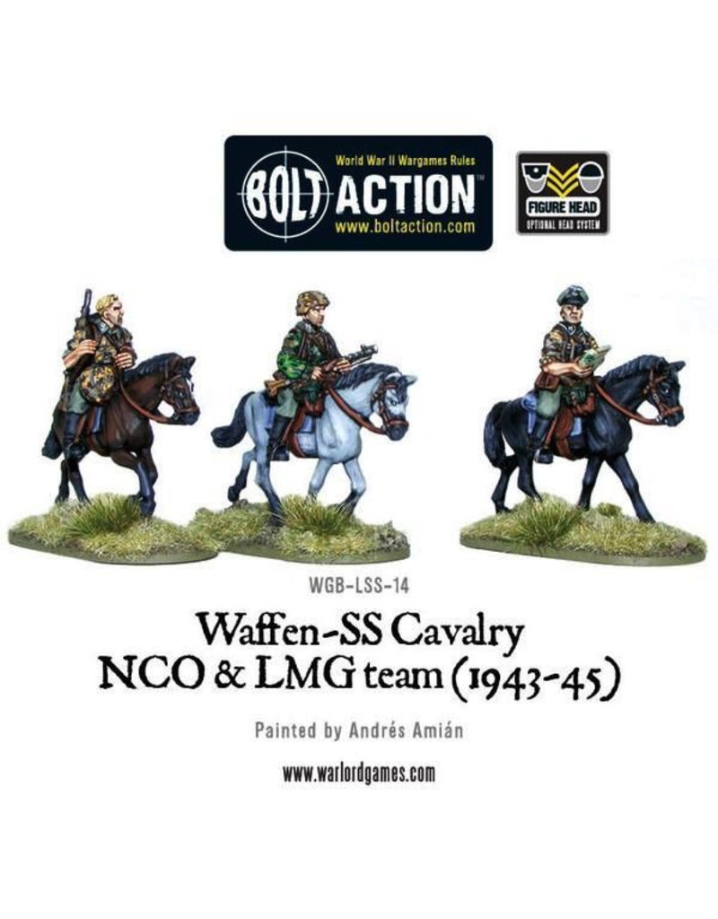 Bolt Action BA German Army: Waffen SS Cavalry NCO & LMG Team (1942-45)