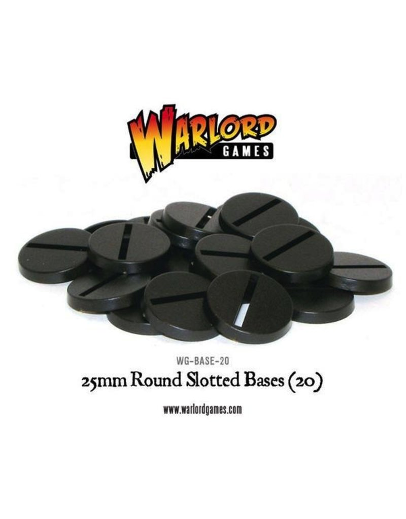 Warlord Games Warlord Accessories: 25mm Round Slotted Bases (20)