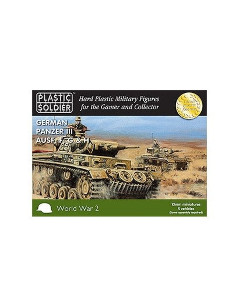 Plastic Soldier Company German Panzer III F,G,H (5pcs)
