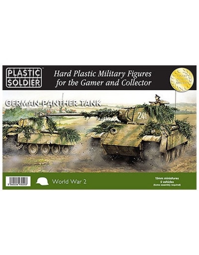 Plastic Soldier Company German Panther Tank Ausf D,A,G (5pcs)