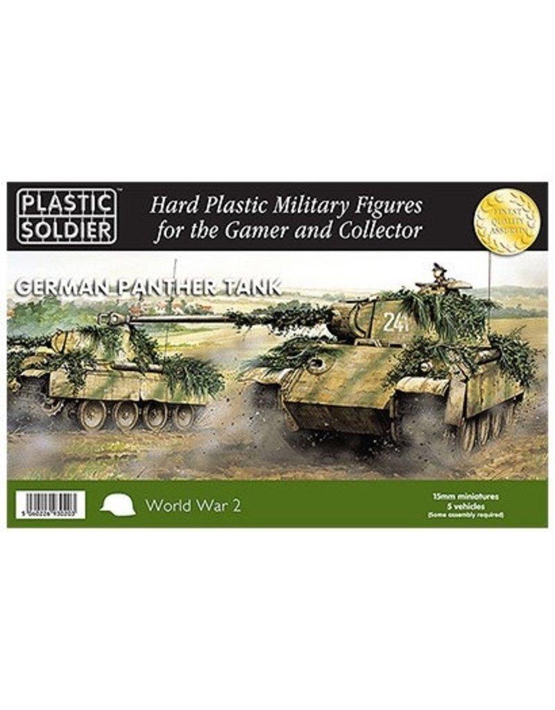 Plastic Soldier Company German Panther Tank Ausf D,A,G (5pcs)