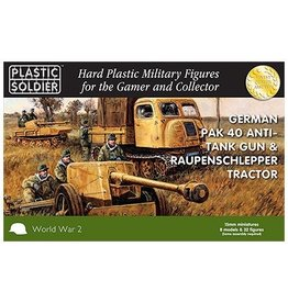 Plastic Soldier Company German Pak 40 w/Raupenschlepper Tractor