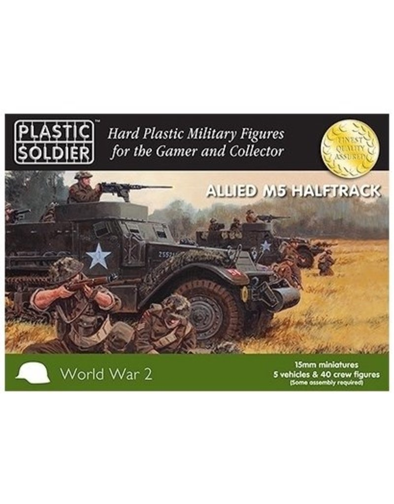 Plastic Soldier Company Allied M5 Halftrack (5pcs)