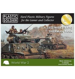 Plastic Soldier Company Allied Sherman M4A3 (Late) Tank (5pcs)