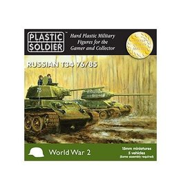 Plastic Soldier Company Soviet T34/76 or T34/85 (5pcs)