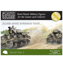 Plastic Soldier Company Allied M4A2 Sherman Tank (5pcs)