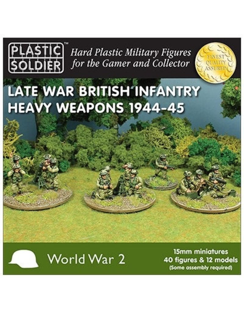 Plastic Soldier Company British Late War Heavy Weapons 1944-45
