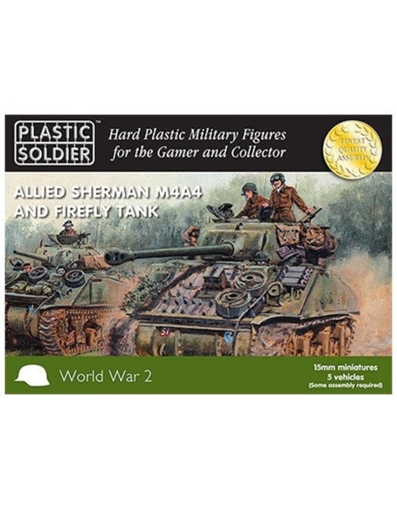 Plastic Soldier Company Allied Sherman M4A4 Firefly (5pcs)