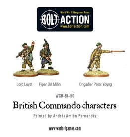 Bolt Action BA British Army: Commando Characters (Lord Lovat, Piper Millin, & Brigadier Young)