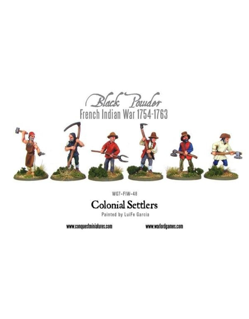 Warlord Games French Indian War Colonial Settlers
