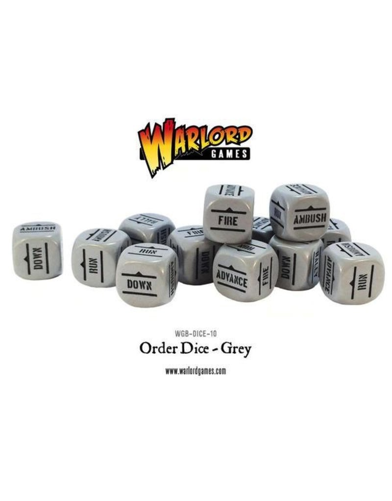 Bolt Action BA Orders Dice - Grey (12)
