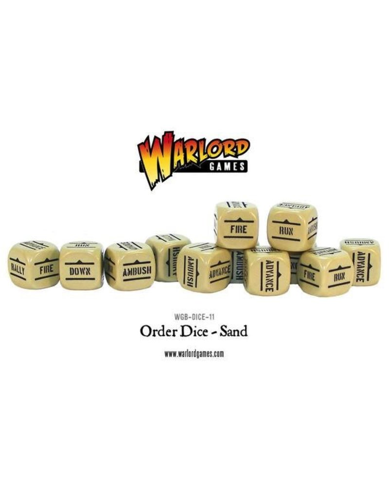 Bolt Action BA Orders Dice - Sand (12)