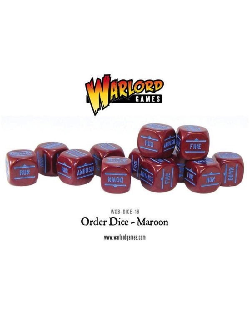Bolt Action BA Orders Dice - Maroon (12)