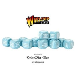 Bolt Action BA Orders Dice - Blue (12)