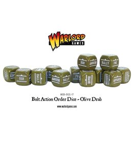 Bolt Action BA Orders Dice - Olive Drab (12)