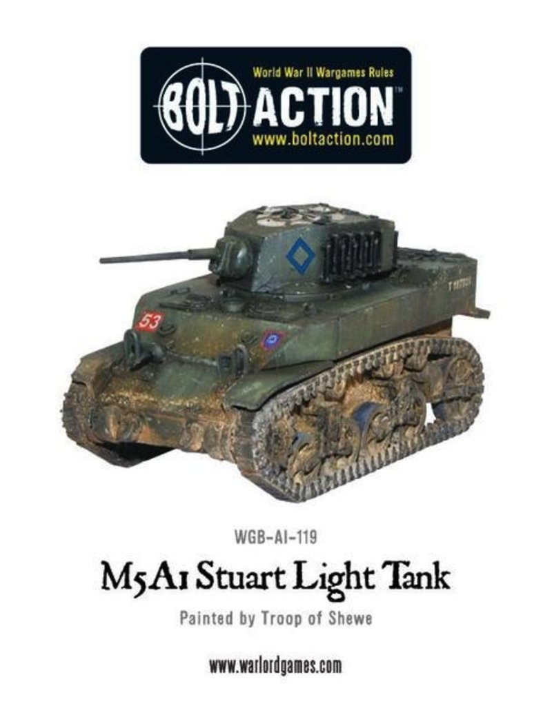Bolt Action BA American Army: M5 A1 Stuart Light Tank