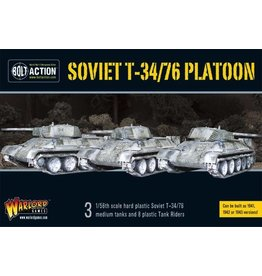 Bolt Action BA Soviet Army: T34/76 Medium Tank Platoon (3) with Tank Riders