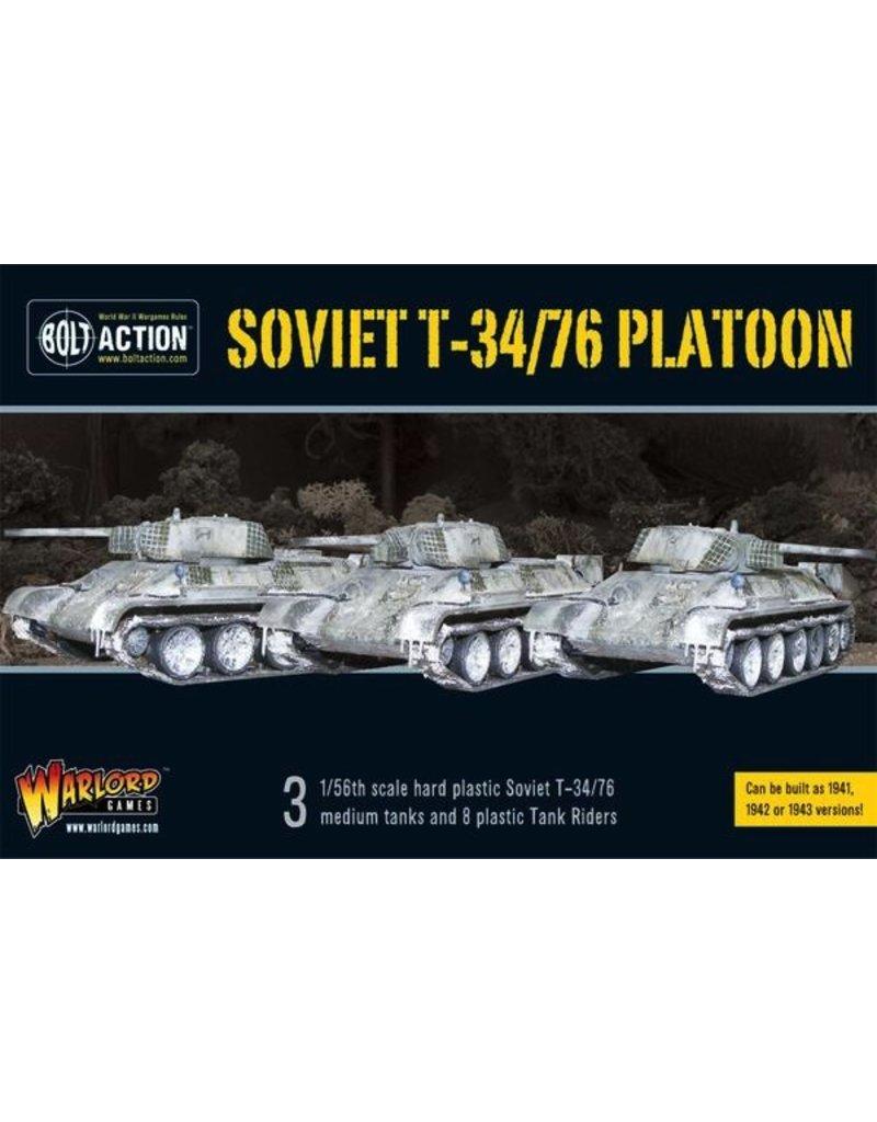Bolt Action BA Soviet Army: T34/76 Medium Tank Platoon (3) with Tank Riders