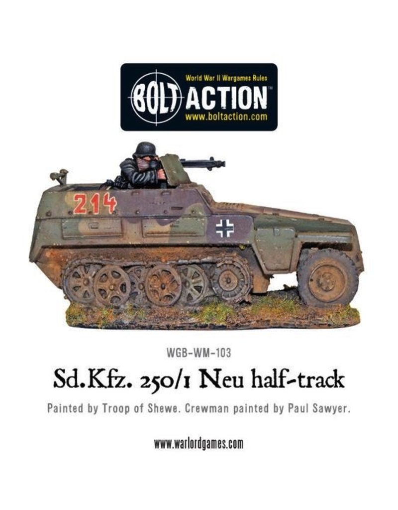 Bolt Action BA German Army: Sd/Kfz 250/1 - Neu Halftrack