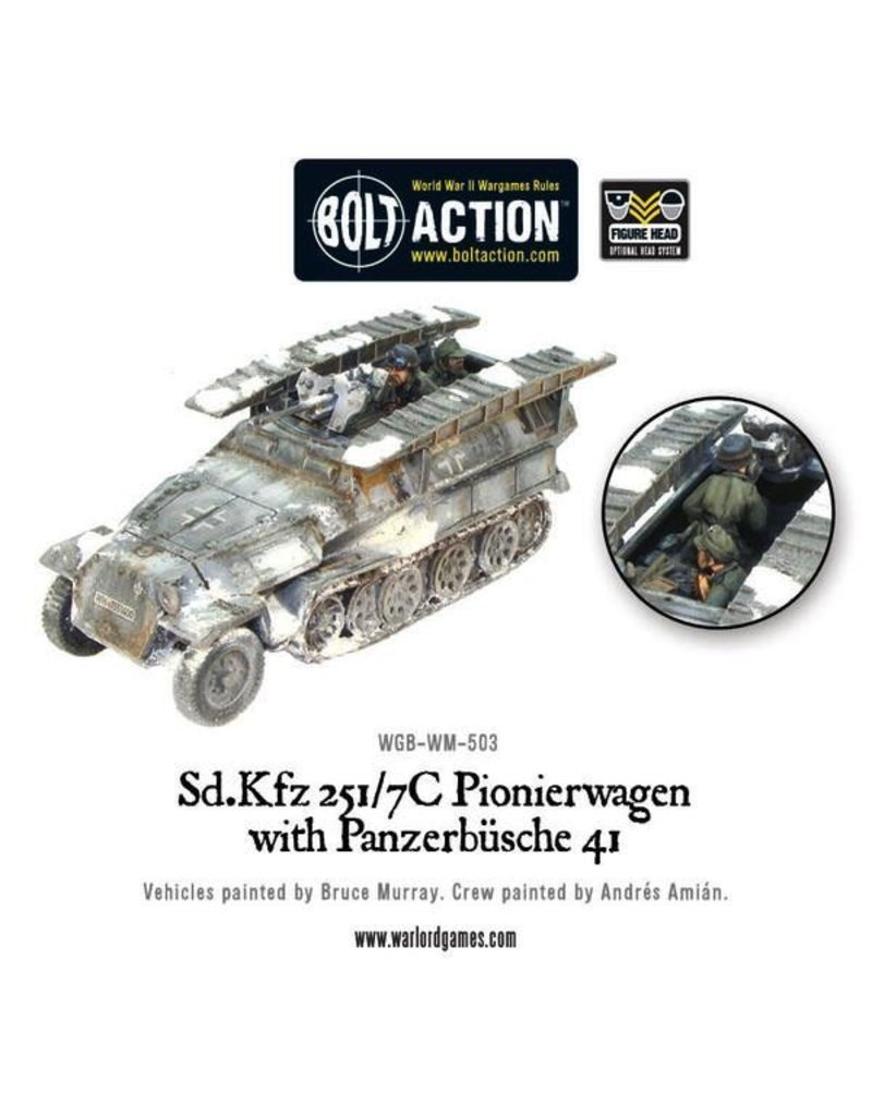 Bolt Action BA German Army: Sd.Kfz 251/7C Pionierwagen with Panzerbuchse 41
