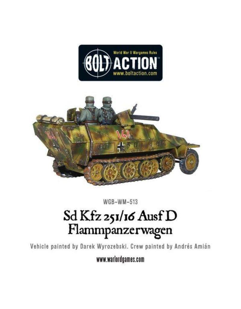 Bolt Action BA German Army: Sd.Kfz 251/16 Ausf D Flammpanzerwagen (Plastic)