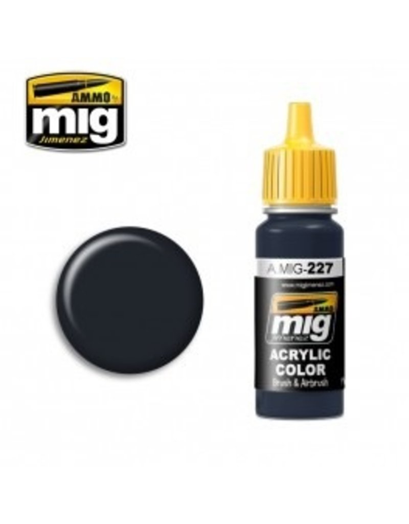 AMMO: of Mig Jimenez DIRECT A.MIG-0227 Acrylic Colors 17ml FS 25042 SEA BLUE (ANA 606)