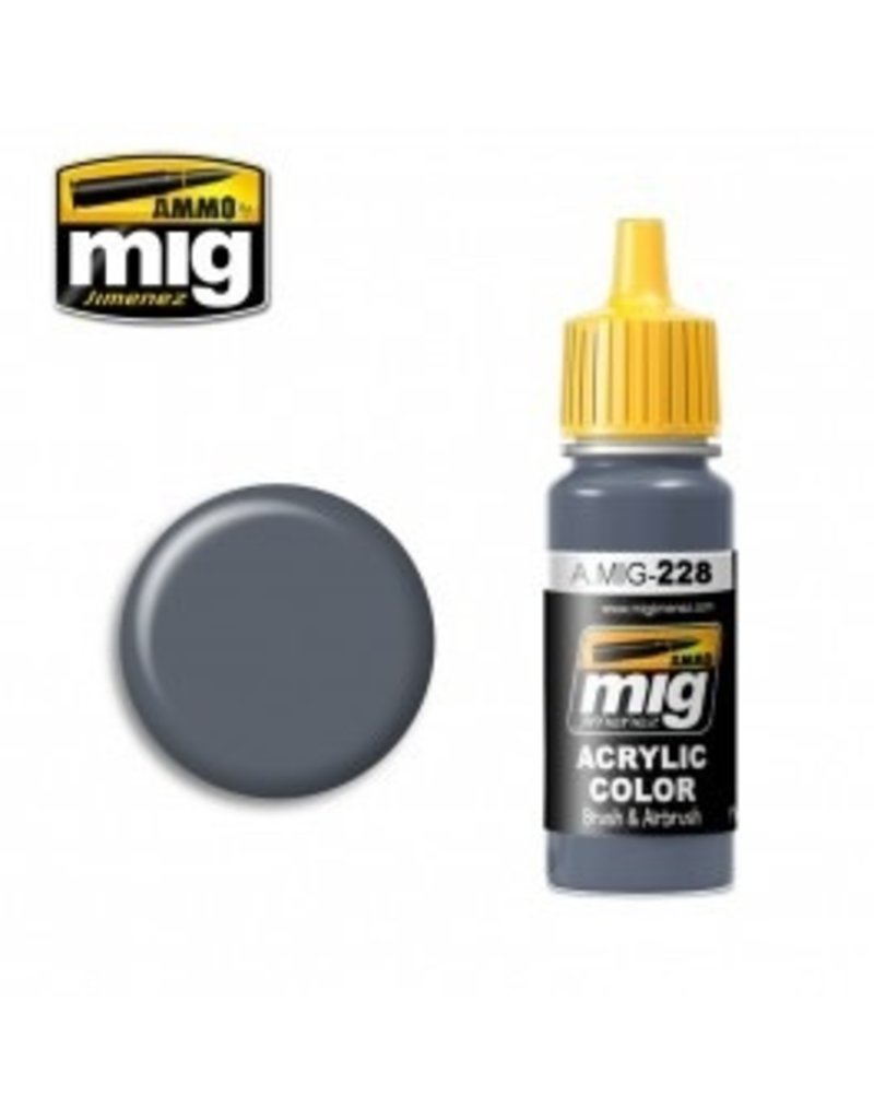 AMMO: of Mig Jimenez DIRECT A.MIG-0228 Acrylic Colors 17ml FS 35164 INTERMEDIATE BLUE (ANA 608)