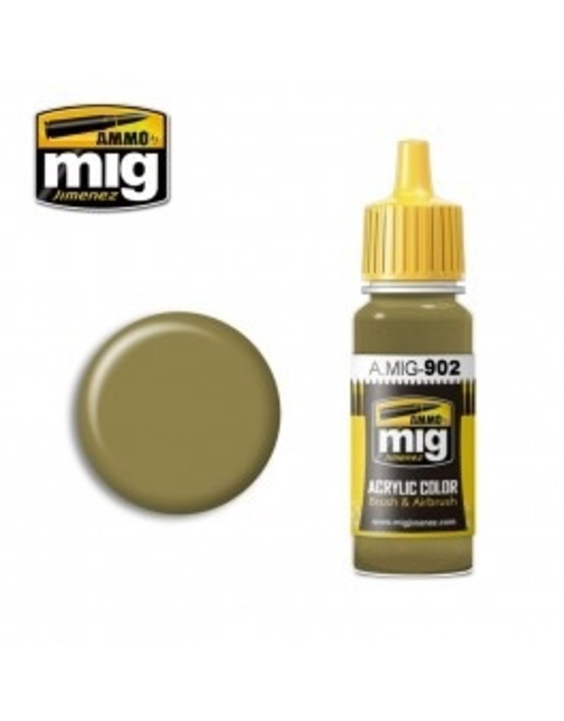 AMMO: of Mig Jimenez DIRECT A.MIG-0902 Acrylic Colors 17ml DUNKELGELB BASE