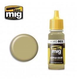 AMMO: of Mig Jimenez DIRECT A.MIG-0903 Acrylic Colors 17ml DUNKELGELB LIGHT BASE