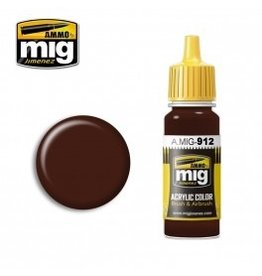 AMMO: of Mig Jimenez DIRECT A.MIG-0912 Acrylic Colors 17ml RED BROWN SHADOW